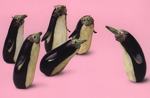 Penguins made with bringles