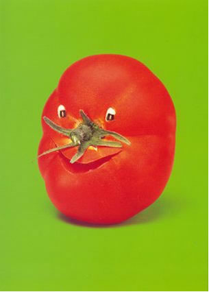 happy face created with tomato