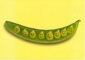 happy faces in peas