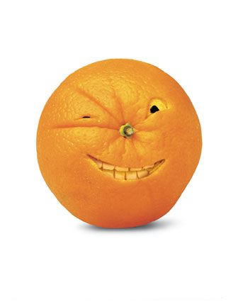 happy face made of orange